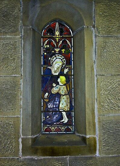 Window #3 - East Witton Church. by Trevor Kersley