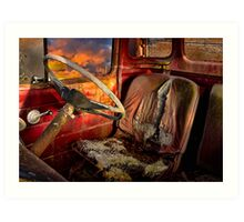 Old Bedford Truck Art Print
