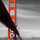 Golden Gate Bridge from below by Sue Leonard