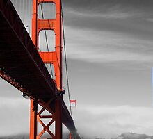 Golden Gate Bridge from below by Susan Leonard