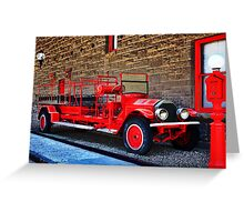 Antique Fire Truck Engine #3 Greeting Card