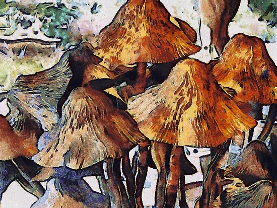 Mushrooms to Gogh by Bunny Clarke