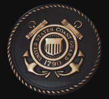 US Coast Guard Emblem T-Shirt by Karl R. Martin