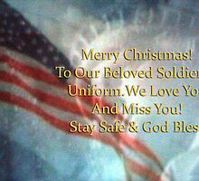 Merry Christmas to Beloved Soldier #2 by Pam Moore