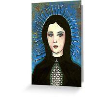 Ligeia - A Portrait In Black Greeting Card