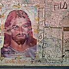 Religous Graffiti by Cathy  Walker