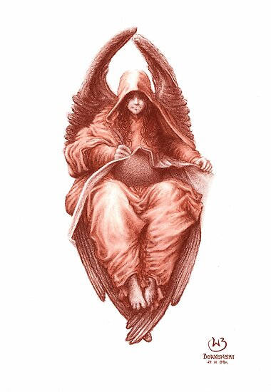 The Heavenly Scribe Angel by Wieslaw Borkowski