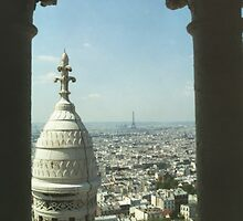 Eiffel Tower from Sacre Coeur, Paris, France by KateLowry