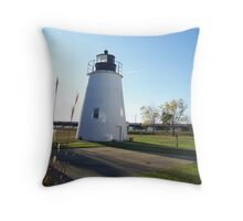 Piney Point Lighthouse Maryland Throw Pillow