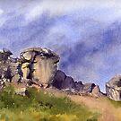 Cow and Calf Rocks, Ilkley Moor by artbyrachel