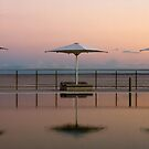 Sunset by the pool by Liza Yorkston