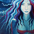 Electric Moon - Goddess Art by SusanRodio