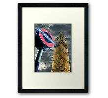 The Tube - Westminster  Framed Print