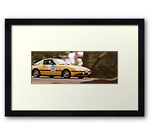 Mazda RX7 Classic Adelaide Car Rally Framed Print