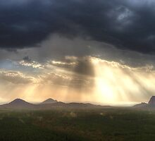 Glasshouse Mountains Panoramic by Adam Gormley