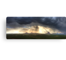 Glasshouse Mountains Panoramic Canvas Print