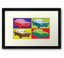 Toyota Celica TA22 Warhol pop art style Framed Print