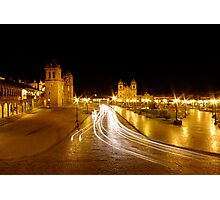 Night Lights - Cusco - Peru Photographic Print
