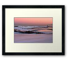Merewether Beach Sunset - Australia Framed Print