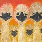 Emu's by Julie  Sutherland