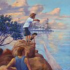 Chasin' Bait -Manly Qld by Cary McAulay