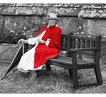 Sitting it out Photographic Print