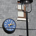 Clock on the town wall by mollycool12