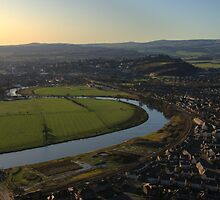 View of Stirling from the Wallace Monument by Alisdair Gurney