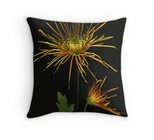 Fuji Mums Throw Pillow