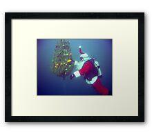 Scuba Santa Framed Print