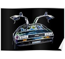 DeLorean Back Again... From the Past!!! Poster
