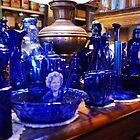 blue glass by Lynn McCann