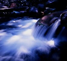 Little Falls in Canyon Creek, Ouray, Colorado by Tom Fant