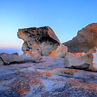Remarkable Rocks at sunset on Kangaroo Island by Elana Bailey