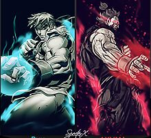Street Fighters Dual Cards by SpecterX