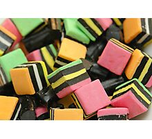 Licorice Candy Photographic Print