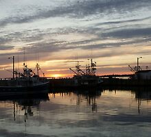 Fishing boats at dusk by Jean Knowles
