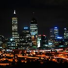 Perth City Skyline At Night by sallydexter