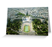 Tilted Reality Greeting Card