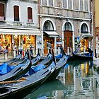 Taxis, Venice-Style by Harry Oldmeadow