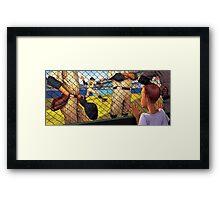 A Boy in the Bullpen Framed Print