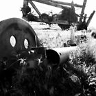 Broken Down - Black and White Industrial Collection - Montana by Monica DeShaw