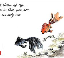A stream of Life ... Haiga by Origa