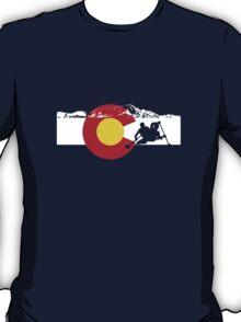 Whitewater Rafting - Colorado Flag T-Shirt