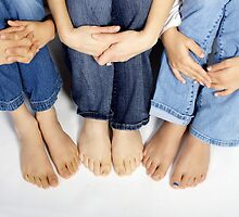 Blue Jeans and Bare Feet by Tamara Brandy