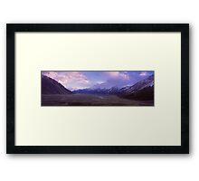 Tasman Valley, Mount Cook National Park Framed Print