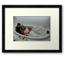 Alana & Toney in the spa. Framed Print
