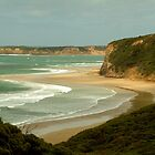 South Side of Bells Beach by Joe Mortelliti
