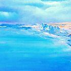 La Plage de Pourville, Monet study by David Snider