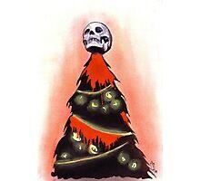 BLACK XMAS: Feliz Navidad Photographic Print